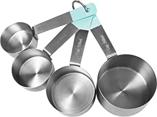 Jamie Oliver Measuring Cups Set, Nest for Easy Storage, Stainless Steel