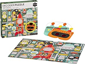 Petit Collage 100 Piece Decoder Puzzle, Robot Factory, Ages 4+ Years