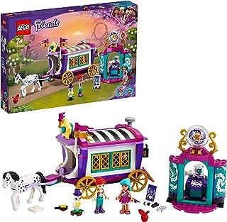 LEGO 41688 Friends Magical Caravan Horse Set, Fairground Amusement Park with 2 Mini Dolls, Vehicle Toy for Kids 7+ Years O...