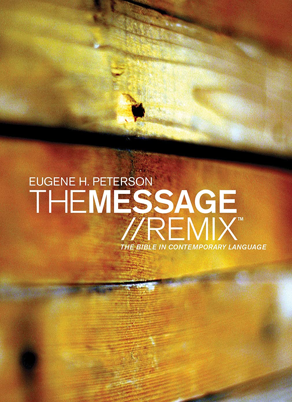 The Message//REMIX (Hardcover, Wood): The Bible in Contemporary Language