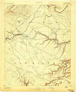 New Mexico Maps - 1892 Watrous, NM USGS Historical Topographic Map - Cartography Wall Art - 44in x 55in