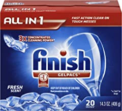 Finish All In 1 Gelpacs, Fresh 20 Tabs, Dishwasher Detergent Tablets