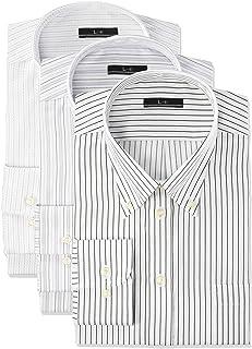 [アトリエサンロクゴ] ワイシャツセット ワイシャツ 3枚セット メンズ 長袖 Yシャツ イージーケア ノーマル スリム ボタンダウン ビジネス ドレス シャツ