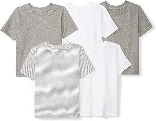 Girls' Infant Set of 5 Organic V-Neck Short-Sleeve T-Shirts