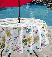 Benson Mills Indoor Outdoor Spillproof Tablecloth for Spring/Summer/Party/Picnic (Blooming Floral, 70