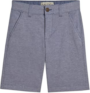 Nautica Boys' Flat Front Shorts, Sea Blue, 2T