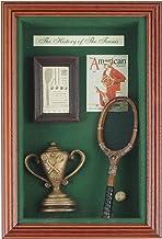 Navika USA History of Tennis Vertical Shadow Box, Brown/Green