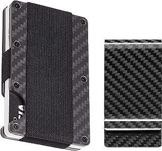 BSWolf Carbon Fiber Slim Minimalist Front Pocket Wallet Credit Card Case Holder RFID Blocking