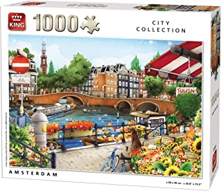 King City Collection Amsterdam 1000 pcs Puzzle - Rompecabezas (Puzzle Rompecabezas, Ciudad, Adultos, MGL, Hombre/Mujer, 8 año(s))