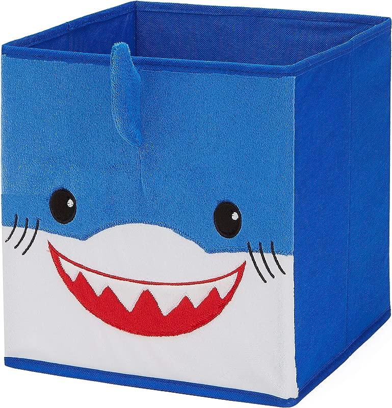 Baby Shark Kids Collapsible Storage Soft Plush Fabric Bin Blue