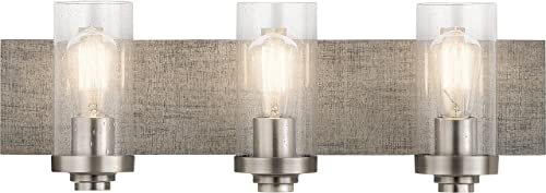 discount Kichler Lighting 45928CLP Three Light Bath popular from lowest The Dalwood Collection, 3, Classic Pewter outlet sale