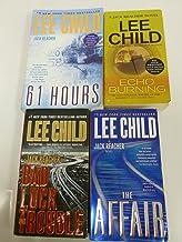 4 Books: Lee Child Jack Reacher Novel Series Set - Echo Burning, Bad Luck and Trouble, 61 Hours, The Affair (Jack Reacher ...