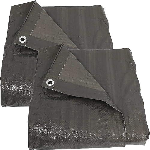 discount Sunnydaze 20x30 Set of 2 Tarp, Heavy sale Duty Multi-Purpose, Outdoor Reversible, Dark discount Gray outlet sale