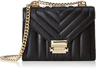 MICHAEL by Michael Kors Whitney Black Quilted Shoulder Bag, black shoulder bag, leather shoulder bag, women shoulder bag