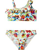 Junior Gaultier - Floral Two-Pieces Swimsuit w/ Ruffle (Big Kids)