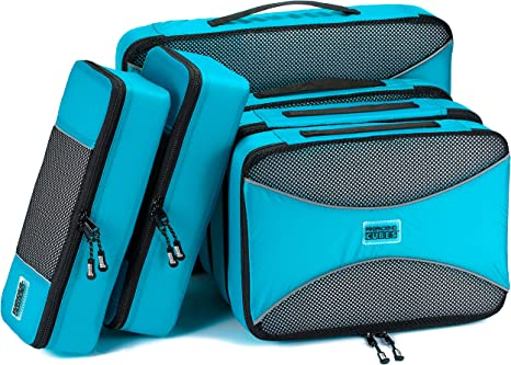 PRO Packing Cubes | 6 Piece Travel Bags Organizer for Luggage | Multi-size Ultralight Travel Cubes | Suitcase Organizer Bags Set | Makes Packing Easy