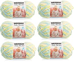 BERNAT Baby Blanket Yarn, 3.5oz, 6-Pack (Little Dinosaurs)