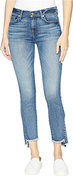 7 For All Mankind Skinny Frayed Kick Side in Canyon Ranch
