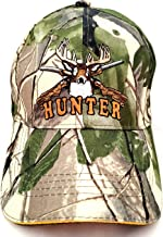 قبعة البيسبول المموه الخضراء الصيادين مع قبعات مطرزة برسمة غزال وبنادق
