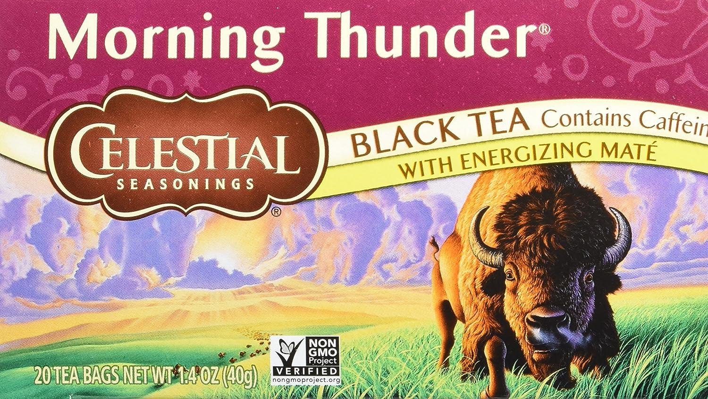 Celestial Regular store Selling Seasonings Black Tea Morning Thunder 20-count o Pack
