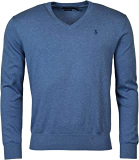 Polo Ralph Lauren Mens Heathered Long Sleeves V-Neck Sweater