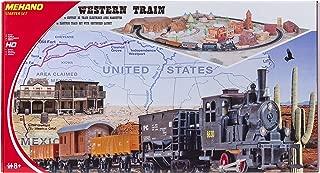 """Mehano T109 - Juego de tren eléctrico de carga y paisaje """"Western"""" de plástico, escala H0"""