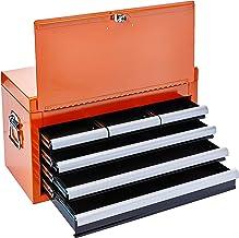 Baú Gabinete De Metal Com 6 Gavetas Laranja, Kingtony Br, 87411-6O