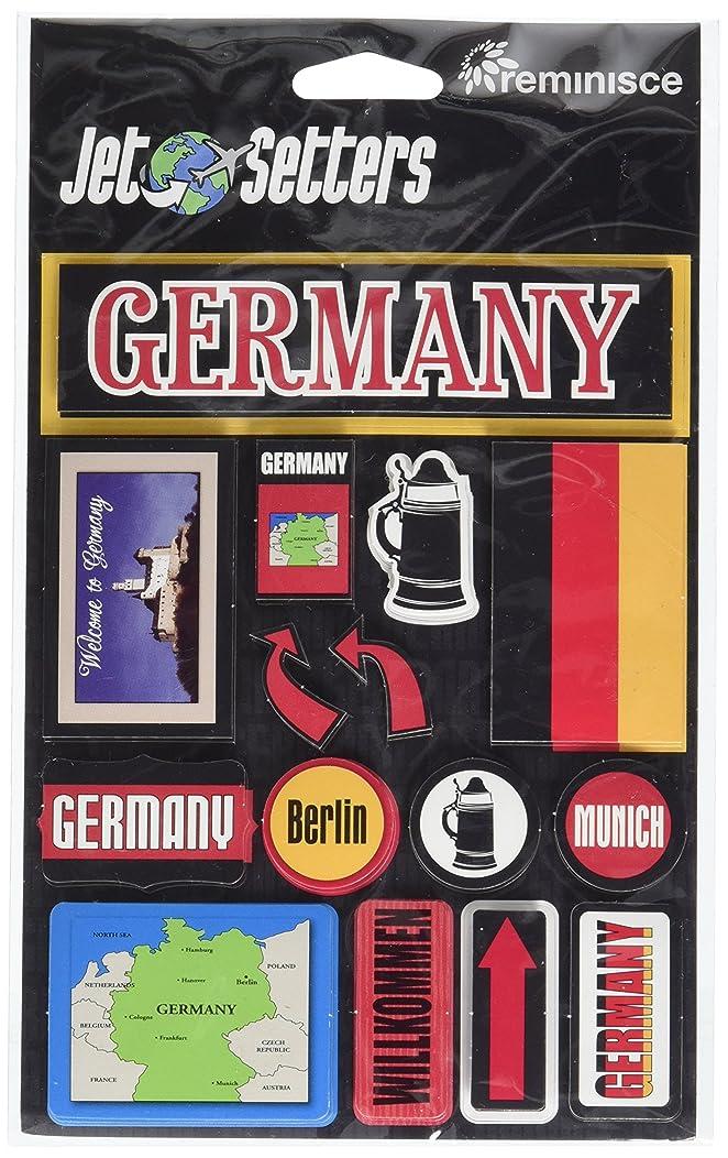 Reminisce Jet Setters Self-Adhesive Epoxy Embellishments, Germany