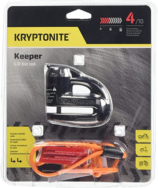 Kryptonite 3500368 Motorradschloss Chrome Einheitsgröße Auto