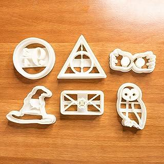 Harry Potter set cortadores galletas con temática mágica brujas, molde adecuado para galletas, pasta de azúcar, decoración...