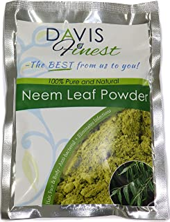 Neem Powder for Face Skin Hair Growth - Skincare Haircare Treatment for Dry Flaky Itchy Acne Skin and Scalp (100g)