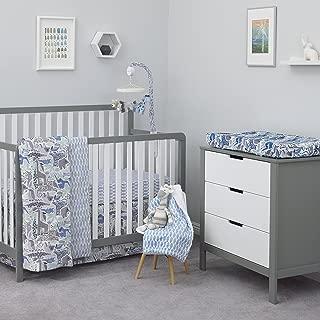 Dwell Studio Safari Skies Animal/Jungle 3 Piece Crib Bedding Set, Blue/Gray/Green/Taupe