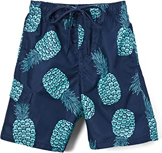 Kanu Surf Boys' Big Pina Pineapple Quick Dry Beach Board Shorts Swim Trunk