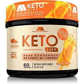 American Metabolix Keto Lift BHB Salts (Orange Icesicle, 60 Servings)