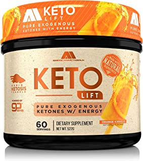American Metabolix Keto Lift BHB Salts (Orange Icesicle, 60 Servings)