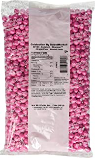 Sweetworks Sixlets Shimmer, Bright Pink, 2 Pound