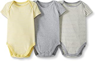 Moon and Back by Hanna Andersson Baby 3 Pk Short Sleeve Bodysuit