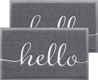 BeneathYourFeet 2-Pack Door Mat Indoor Outdoor Doormat Multiple-use Welcome Mats for Front Door Easy to Clean Garage Floor...