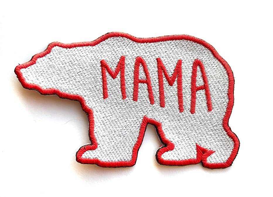 Mama Bear Motherly Love Embroidered Clothing Patch