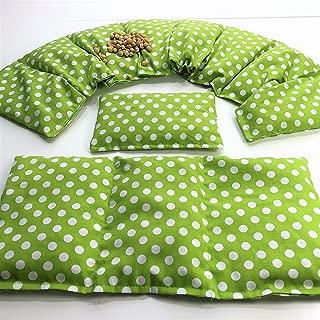 Kirschkernkissen, Lime Sterne kleines Kirschkernkissen ⭐️ 11 Farben ⭐️ K/örnerkissen ⭐️ W/ärmekissen ⭐️ XXL ⭐️K/ältekissen ⭐️ 2 er Set ⭐️ 51 x21 cm