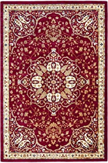 Antep Rugs ORIENTAL WAVE Collection HAREM Oriental Area Rug RED/IVORY 4'1