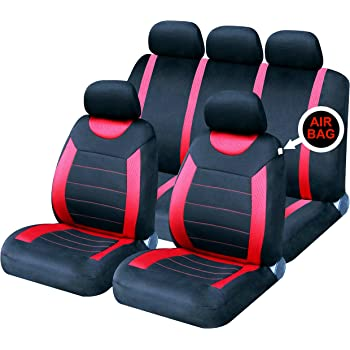 Red Sport Line Tailored Full Set Seat Car Covers Seat Ibiza Mk3 Mk4 2002-2017