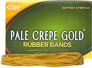 Alliance Rubber 21405 Pale Crepe Gold Rubber Bands Size #117B, 1 lb Box Contains Approx. 300 Bands (7