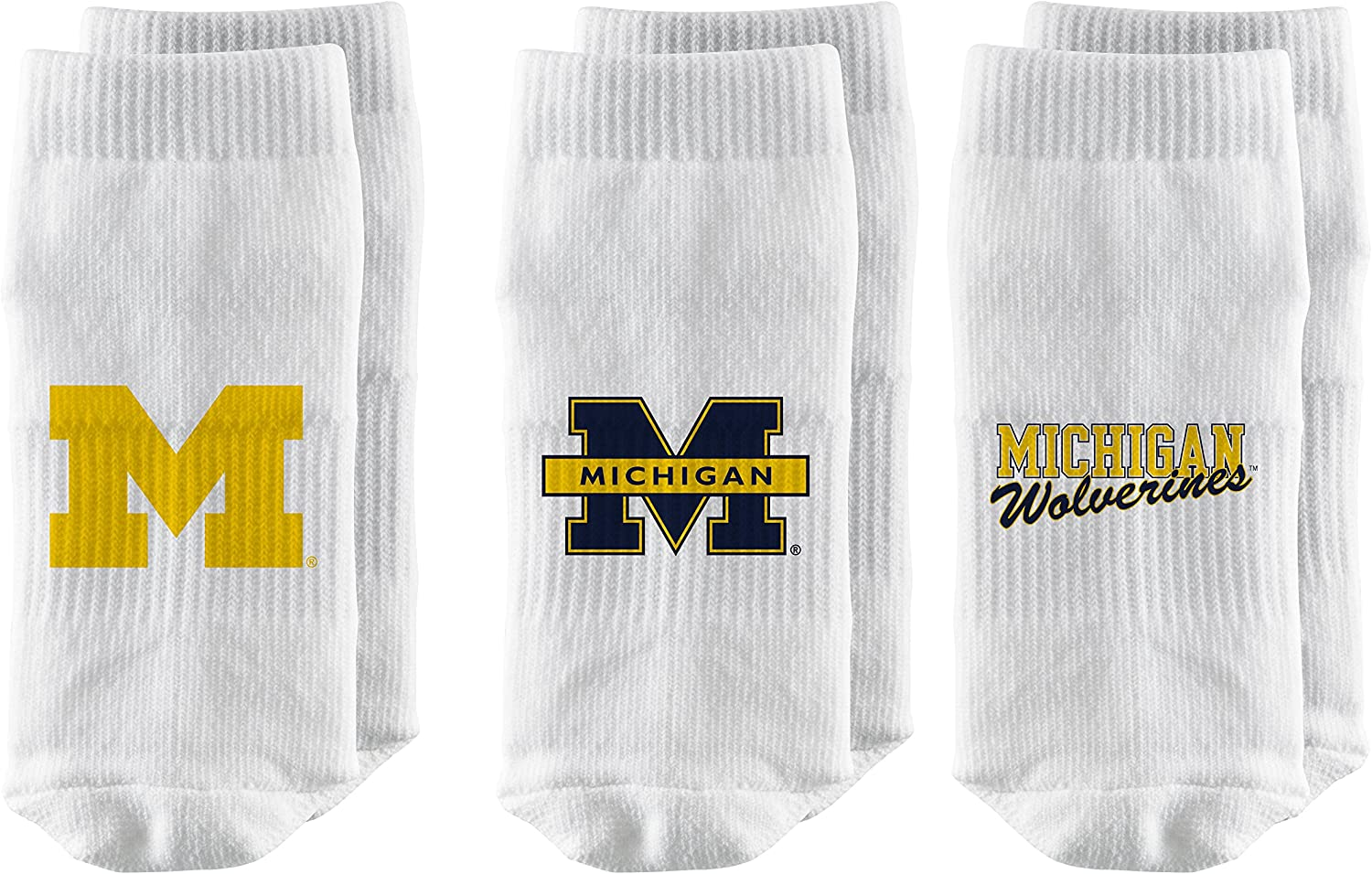 White 3-Pack Strideline NCAA Baby Socks