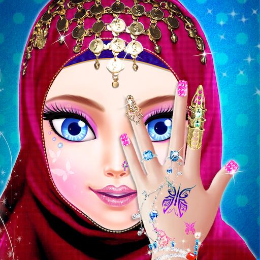 Hijab Fashion Doll Makeover And Hand Art - Hijab Girl Makeup And Dress up Salon