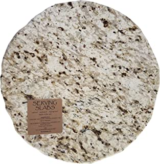 Handmade Reclaimed Granite Lazy Susan with Rough Chiseled Edge, 12