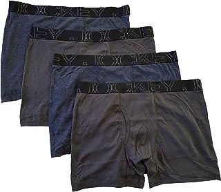 Jockey Men's Underwear ActiveBlend Boxer Brief - 4 Pack