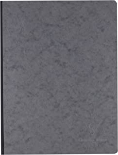 Clairefontaine Age Bag 792425°C Cahier broché Small Squares Imitation Leather Grain Cover 192Pages 90g 19x 25cm Grey