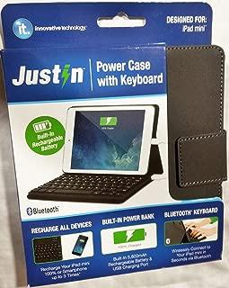 Justin Bluetooth Keyboard and 5800mAh Power Bank for iPad Mini, Black (Pack of 2)