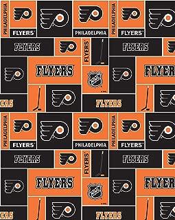 Philadelphia Flyers Cotton Fabric W/Classic Geometric Design-Sold by The Yard